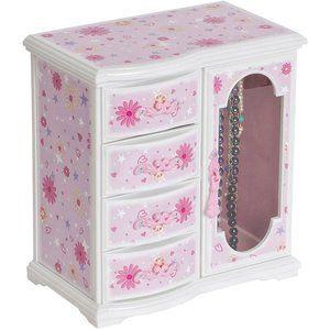 Glittery Upright Musical Ballerina Jewelry Box